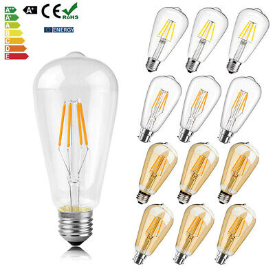 E27 B22 Vintage Industrial Filament LED Light Bulb Lamps Squirrel Cage Edison