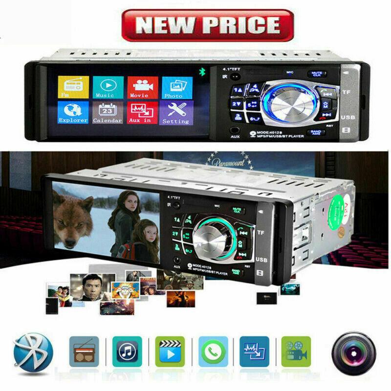 "4"" HD Single 1DIN Car Stereo Video MP5 Player Bluetooth FM U"