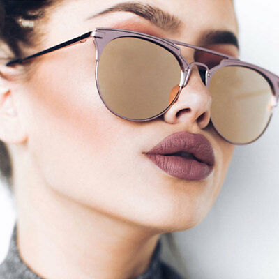 Luxury Vintage Round Cat Eye Sunglasses For Women Female Ladies Sunglass Mirror (Sunglasses For Female)
