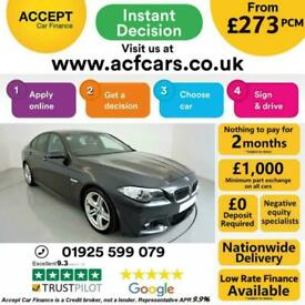image for 2014 GREY BMW 530D 3.0 M SPORT DIESEL AUTO SALOON CAR FINANCE FR £273 PCM
