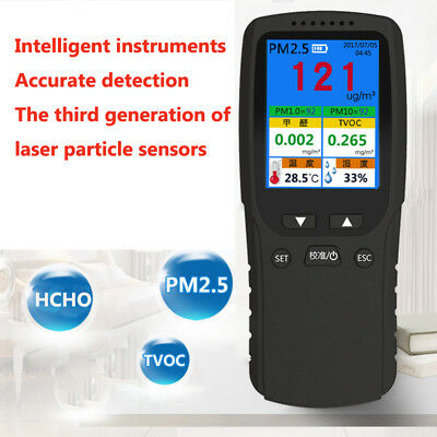 Pm2.5 Pm10 Hcho Tvoc Particle Laser Temp Humidity Detector Air Quality Tester