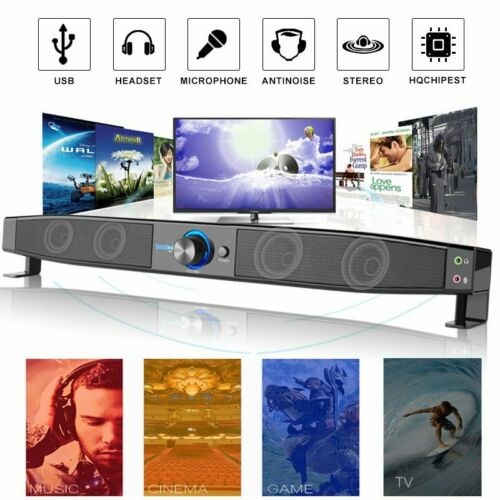 Home Theater Soundbar Wired Sound Bar Speaker System Subwoof