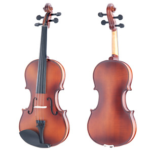 """Satin Antique Solid Wood 16"""" Viola with Case, Bow & More"""