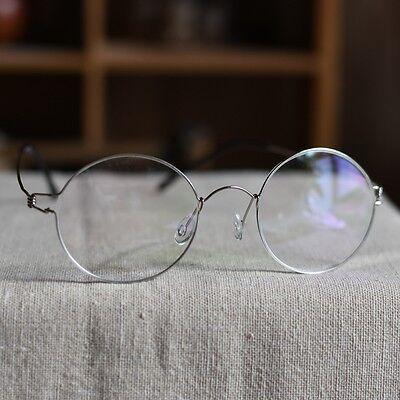Vintage Titanium Round eyeglasses Steve Jobs mens womens RX optical eyeglasses](Steve Jobs Glasses)