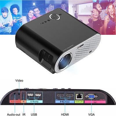 GP90UP Mini Home Cinema Theater Office 1080P LCD Projector 3200 Luminous Black