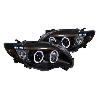 For 09-2010 Toyota Corolla LED DRL Projector Headlights Black Housing TRD Sport Civic Projector Headlights Black Housing