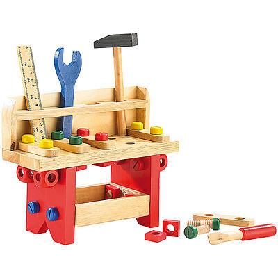 Kinder Werkzeug: Lustige Holzwerkbank für kleine Handwerker, 51-teilig
