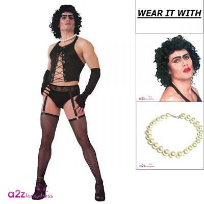 Frank 'n' Furter Rocky Horror Picture Show Adult 80s Mens Stag Fun Fancy Dress  - Frank N Furter Costume