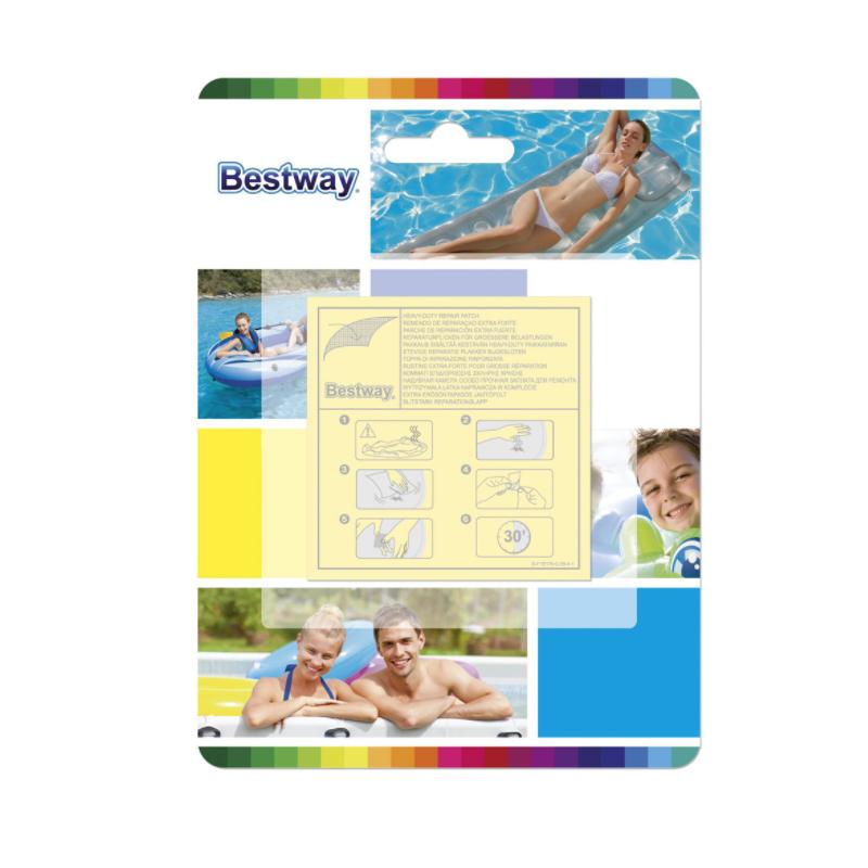 Bestway Flicken Wasserfeste Selbstklebende Reparaturflicken Set 10 Stück 62068