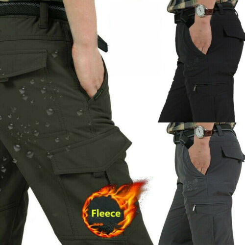 Mens Winter Warm Thick Tactical Fleece Lined Pants Soft Combat Pants Trousers Us