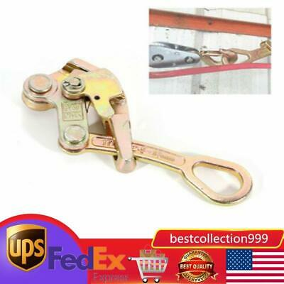 Us 1 Ton Multifunctional Cable Wire Rope Haven Jaw Pulling Puller Grip -2204 Lbs