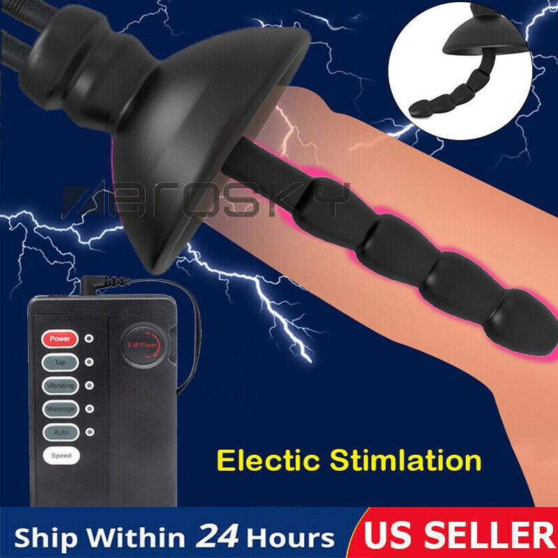 Male Electro - Stim Shock Urethral Sound Penis Plug Estim Stretching Dilator Set