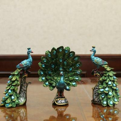 Small Peacock Resin Crafts Statues Best Gift Figurine Home Art Decor Figures New (Small Peacock)