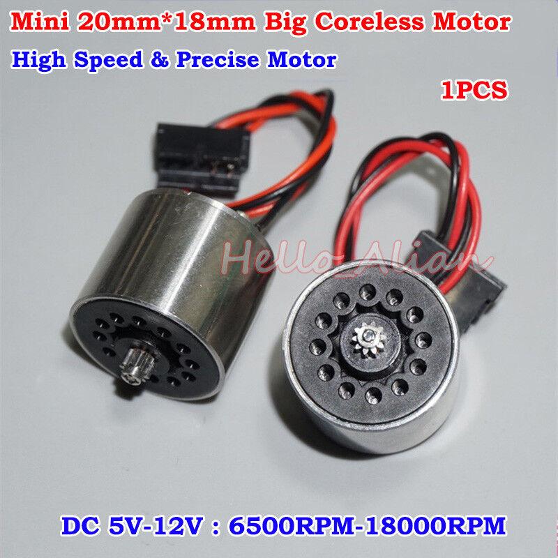 20mm DC5V-12V 18000RPM High Speed Mini Big Coreless Motor DIY Tattoo Machine Toy