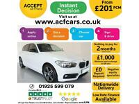 2017 WHITE BMW 118i 1.5 M SPORT PETROL MANUAL 5DR HATCH CAR FINANCE FR £201 PCM