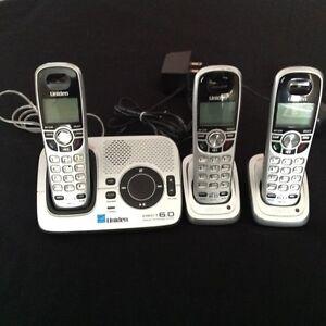 Téléphones sans fil Uniden 3 unités et répondeur intégré
