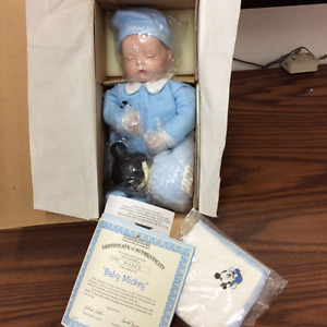 Ashton Drake Baby Mickey collectible doll