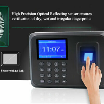 1 Pc Fingerprint Time Clock Password Punch Time Clock For Factory Office Hotel