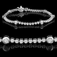 14k Or bracelet en diamants 1.10CTW Diamond tennis bracelet