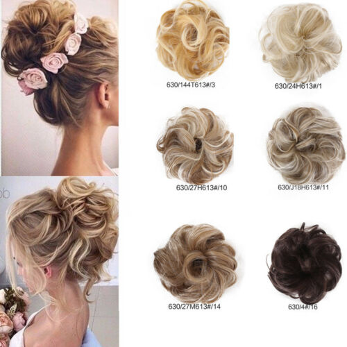 Hot Us Lady Curly Messy Bun Hair Piece Scrunchie Hair Bobble