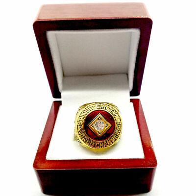 1964 ST. LOUIS CARDINALS Championship Ring World Series 18k GOLD PLATE Sz 11 (1964 St Louis Cardinals World Series Ring)