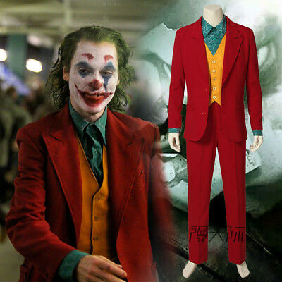 Joker Arthur Joaquin Phoenix Film Cosplay Costume Kostüm Full Set (Joker Cosplay Kostüm)