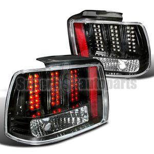 1999 2004 ford mustang led tail lights brake lamp black ebay. Black Bedroom Furniture Sets. Home Design Ideas