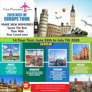 14 Days Tour: 2020 Best of Europe Tour