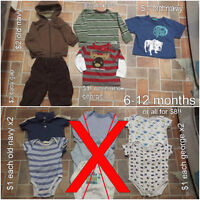baby boy clothes 6 months, 6-9 months & 6-12 months