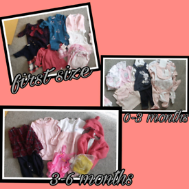 Baby girls clothes 0-6 months