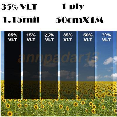 50cm*1M Black Glass Window Tint Film Shade VLT 35% Scratch Resistant Membrane