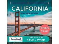 Return Flights to CALIFORNIA! Be canny, save £££'s flying from Manchester!