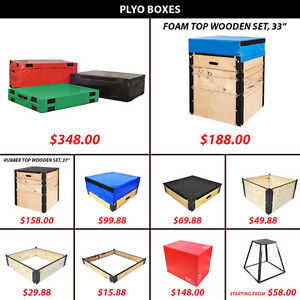Plyo Box Boxes Jump Endurance Speed Hard Foam Steel Wooden Set