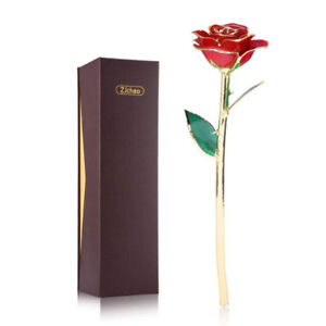 24K Real Red Rose Dipped in Gold PERFECT GIFT FOR HER