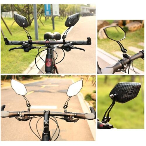 Pair Rearview Mirrors Bicycle Safety Cycling Bike Handlebar Flexible Universal
