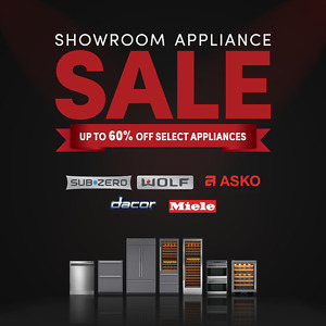 Save up to 60% Off Appliances from Sub-Zero, Wolf, ASKO & More!
