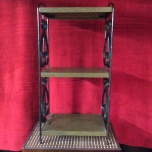 Metal and Black Iron 3-Tier Stand