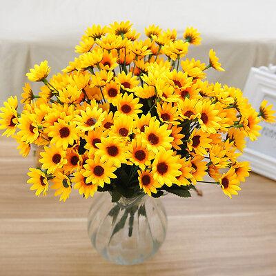 14 Head Fake Sunflower Artificial Silk Flower Bouquet Home Wedding Table Decor