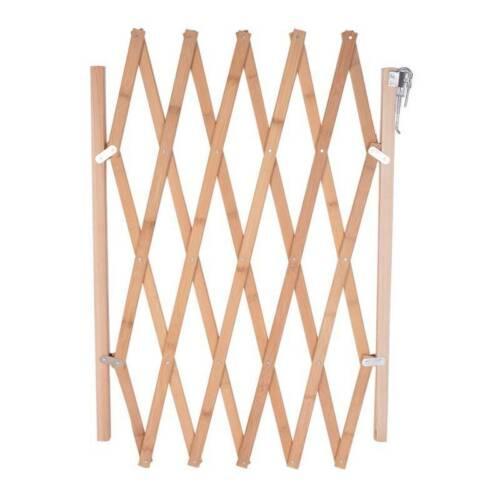 Pet Protection Wood Door Folding Dog Gate Expanding Portable