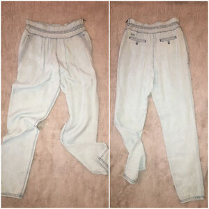 SIZE 0 WILFRED HIGH WAISTED DENIM PANT
