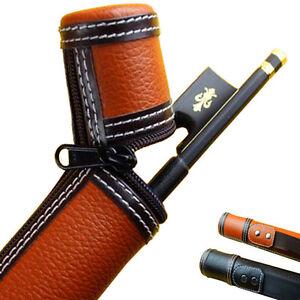 Leather Violin Bow Case, Viola Bow Case, Cello Bow Case, Universal .2 colours