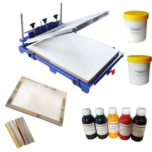 1 Color 1 Station Screen Printing Kit Oversize Shirt Press Printer DIY Ink Coat