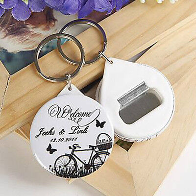 30pcs Personalized Bottle Opener & Keychain Wedding Souvenirs Gifts For Guests (Personalized Souvenirs)