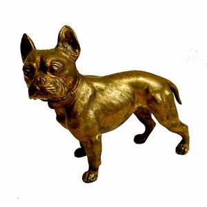 Vintage Brass French Bulldog