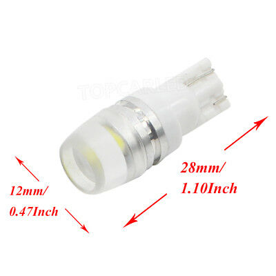 10pcs T10 Wedge W5W  High Power 1W LED Light Bulbs Xenon White 192 168 194
