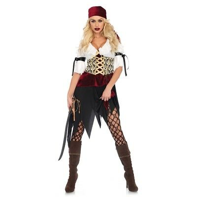 High Seas Pirate Wench Adult Womens Costume, 86673, - Womens Pirate Wench Kostüme