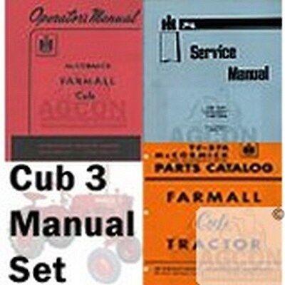 International Farmall Cub Operators Service And Parts Catalog 3 Manual Set Ih