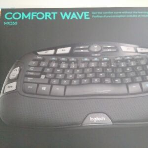 new in box Logitech wireless keyboard and mice 2 available