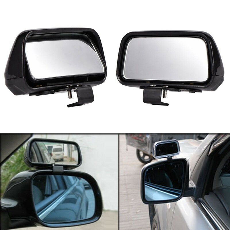 2pcs Black Adjustable Side Car Auto Blind Spot Wide Angle Rearview Mirror #079