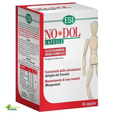 No Dol  60cps  Esi,glucosamina,condroitina,collagene,articolazioni,cartilagine